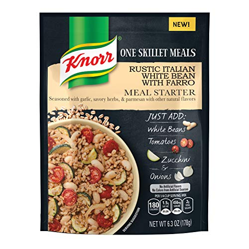 Knorr One Skillet Meals Meal Starter, Rustic Italian White Bean Farro, 6.3