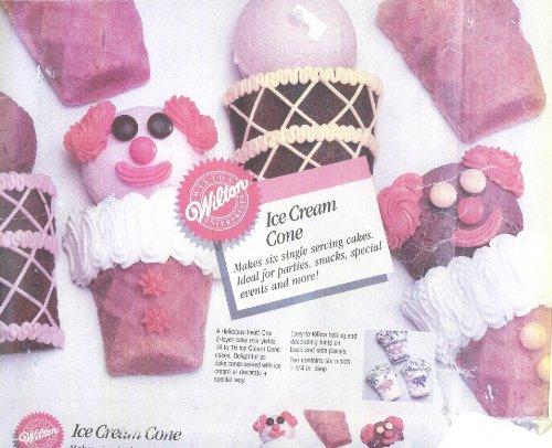 (Wilton Cake Pan: Mini Ice Cream Cone/Flower Basket/Clowns (2105-3636, 1987))