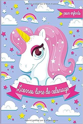 Coloriage De Licorne Deja Colorier.Licornes Livre De Coloriage Pour Enfants Il S Agit D N Livre De