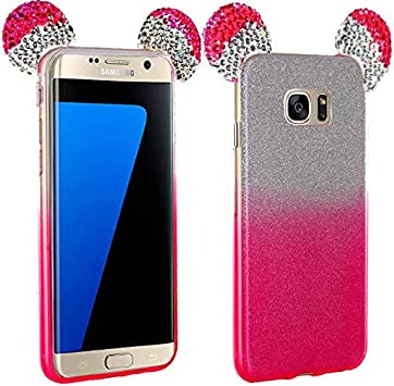 World Smartphones Coque Strass Paillettes Oreilles Mickey Rose ...