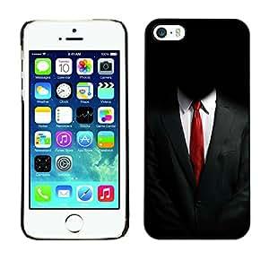 Apple iPhone 5 / iPhone 5S , Radio-Star - Cáscara Funda Case Caso De Plástico (Anonymous Suit)