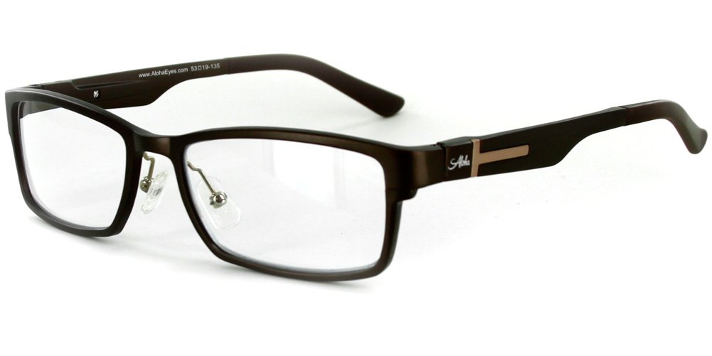 Alumni RX02 Optical-Quality Reading Glasses with RX-Able Aluminum Frames for Men (Brown +2.00)