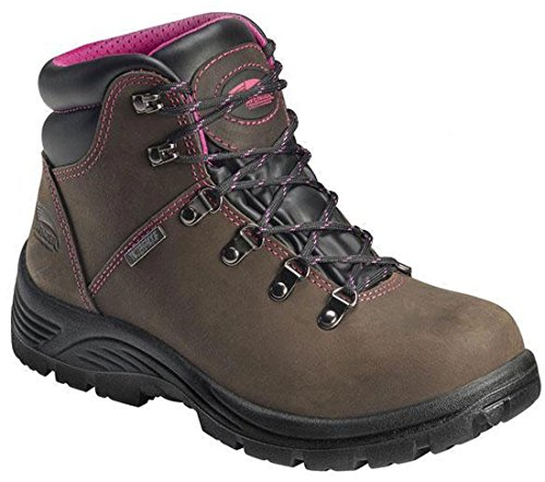 Avenger Safety Footwear Women's 7125 Steel-Toed Work Boot,Brown,8.5 W US