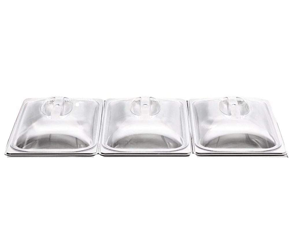 3 x Spare Replacement LIDS for 3 PAN Buffet Warming Food Server Warm Tray PDL