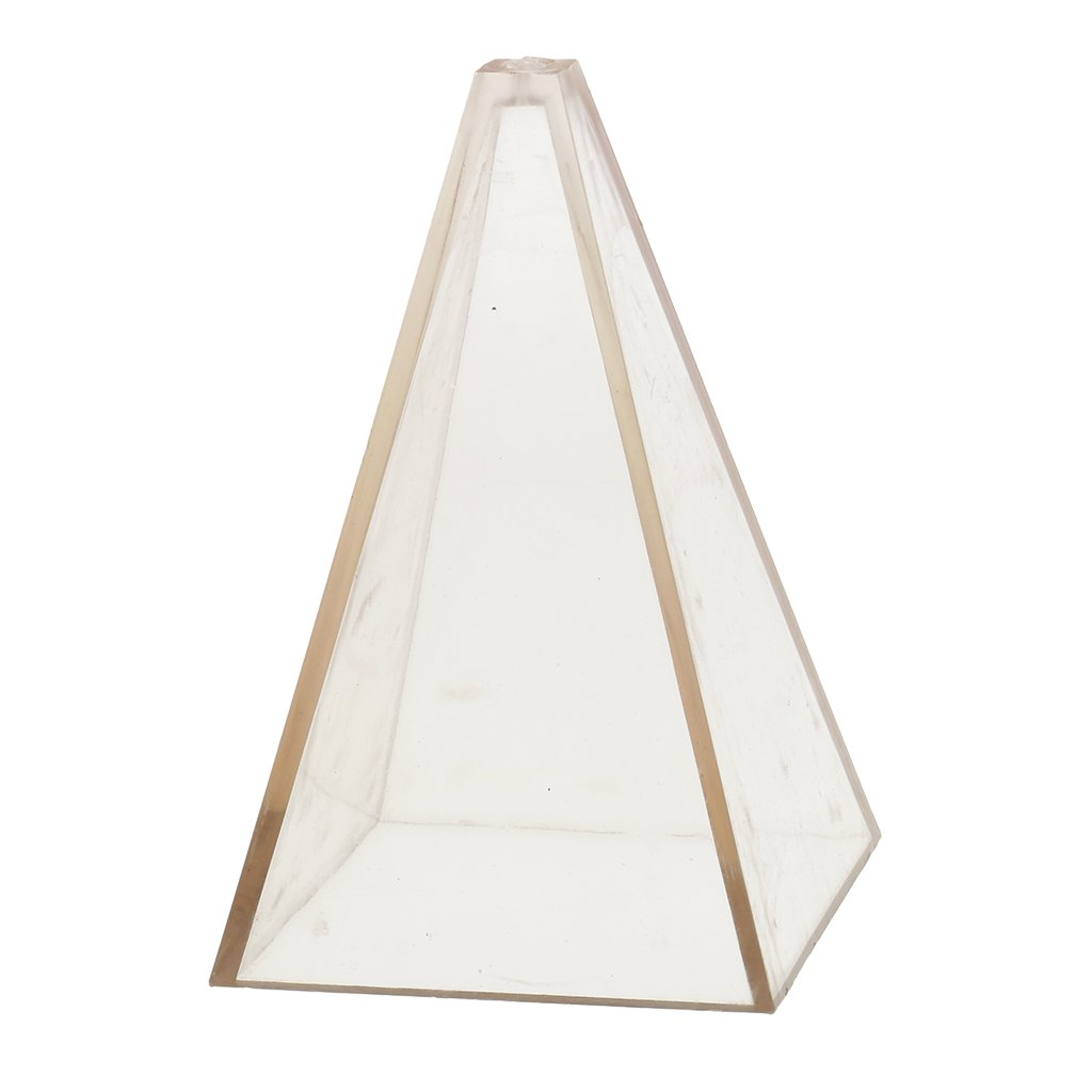 5x5x10 cm transparent MagiDeal 1 Piece Candle Mould Pyramid PC Plastic Material Handcraft DIY