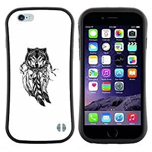 "Hypernova Slim Fit Dual Barniz Protector Caso Case Funda Para Apple (4.7 inches!!!) iPhone 6 / 6S (4.7 INCH) [Indian Dream Catcher Lobo Blanco Nativo""]"
