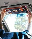 car visor organizer blue - Car Blue Sun Visor Point Pocket Organizer Pouch Bag Pocket Card Storage Holder