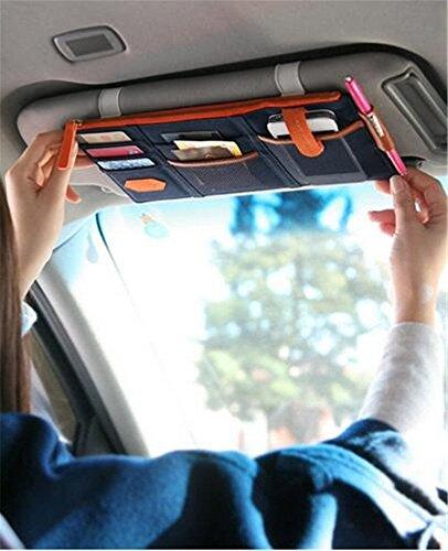 car visor organizer blue - 6