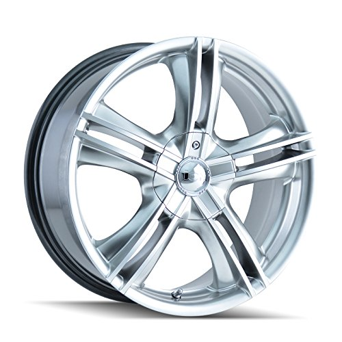 Ion Alloy Style 161 Hyper Silver Wheel with Machined Face (17x7