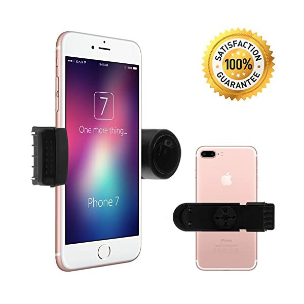 Luxury Air Vent Car Mount Universal Smartphone Mobile Phone Holder By EnviCAR Compatible With IPhone 7 7 Plus 6 6S Se 6 Plus 6S Plus IPhone 5 5S Galaxy S5 S6 S7 S7 Edge And Others