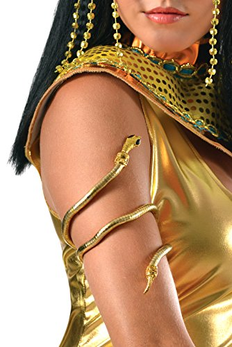 Golden Goddess Egyptian Costume (Rubie's Costume Co Women's Snake Arm Cuff, Multi, One Size)