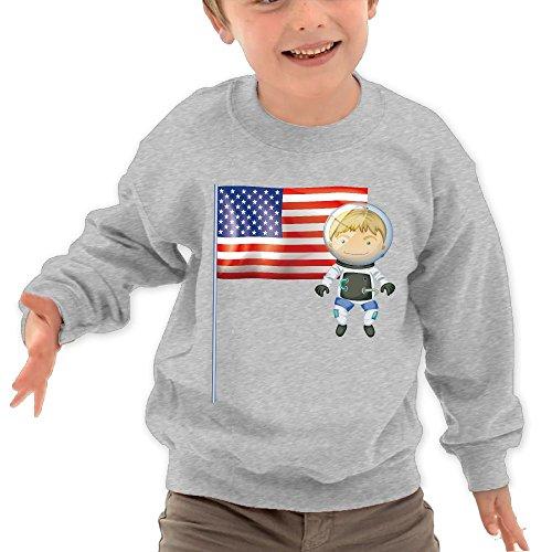 TAGSE I Love USA Funny Logo DIY Customized Print Cool O-Neck Long Sleeve T-Shirt Kids Sweatshirts by TAGSE