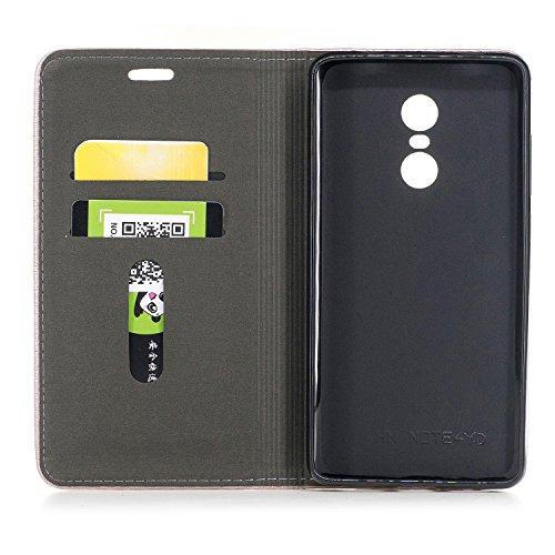 Funda Xiaomi Redmi Note 4X, Carcasa Xiaomi Redmi Note 4, CaseLover Piel PU Flip Folio Carcasa para Xiaomi Redmi Note 4 / Note 4X con TPU Silicona Case Cover Interna Estilo Libro Cuero Tapa Cierre Magn Azul oscuro