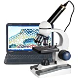 40X-1000X LED Coarse & Fine Focus Science Student Microscope + 2MP USB Camera