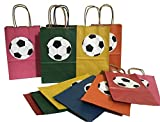 Soccer Theme Goodie Bags Assorted Colors 12PK
