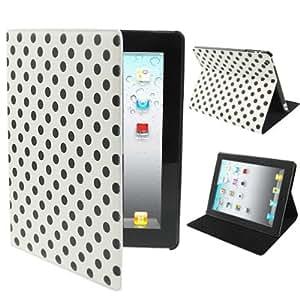 Dot Style Leather Case with Sleep / Wake-up Function & Holder for New iPad & iPad 3 / iPad 2 / iPad 4