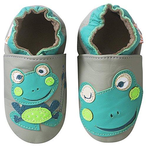 Tichoups chaussons bébé cuir souple patrick la grenouille