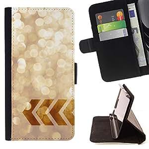 Momo Phone Case / Flip Funda de Cuero Case Cover - La chispa de Bling minimalista Soleado Nieve - Sony Xperia Z3 Compact