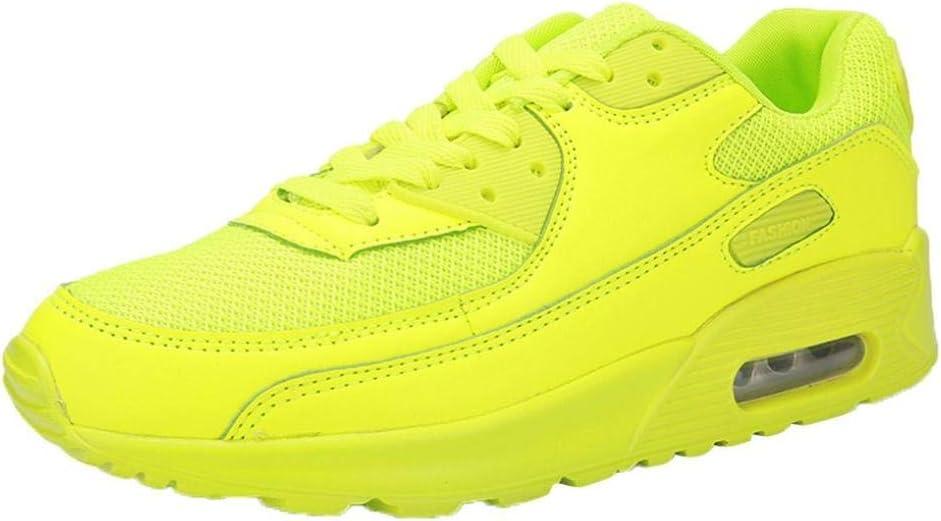 yanhoo-scarpe par cojín neumático Zapatos Deportivas Zapatillas de running Casual zapatos de viaje para estudiantes, gimnasia Mujer Sneaker Botas Wellington Zapatos Running Hombre Hombre Deportivas amarillo amarillo 37=Asia 38: Amazon.es: Electrónica