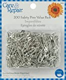 Safety Pins-Assorted Sizes 200/Pkg