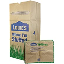 Loweu0027s 30 Gallon Heavy Duty Brown Paper Lawn And Refuse Bags For Home And  Garden (