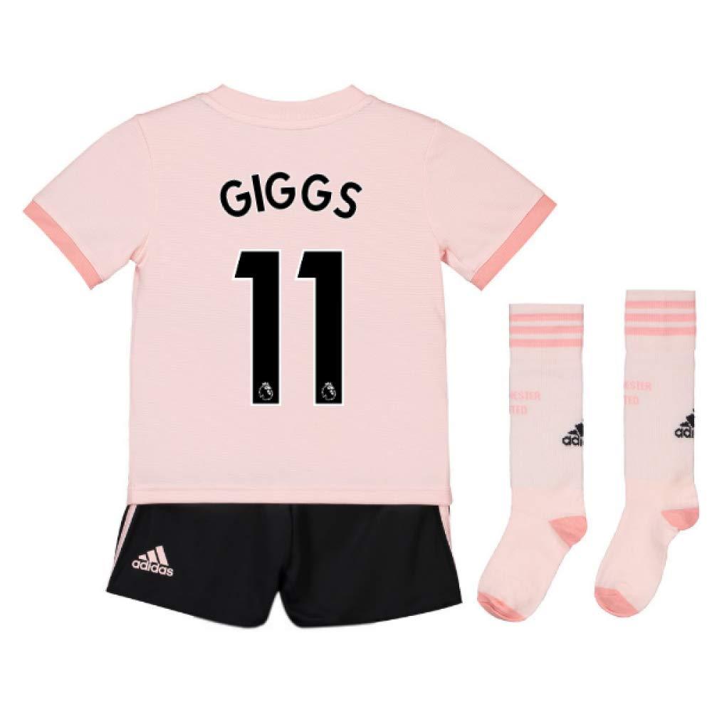 UKSoccershop 2018-19 Man Utd Away Mini Kit (Ryan Giggs 11)