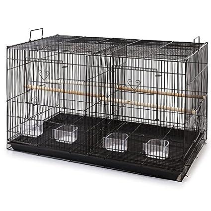 Divided Flight Breeding Breeder Lovebird Cockatiel Cockatiels Parakeets Cage Black) Mcage