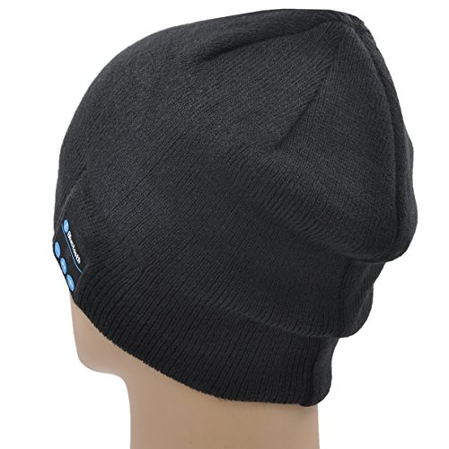 Xikezan Unisex Bluetooth Beanie Hat V41 Knit Wireless -2699