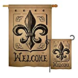 Cheap Ornament Collection S191211-BO Welcome Fleur De LYS Interests Fleur De LYS Impressions Decorative Vertical House 28″ X 40″ Garden 13″ X 18.5″ Double Sided Flags Set Printed in USA Multi-Color