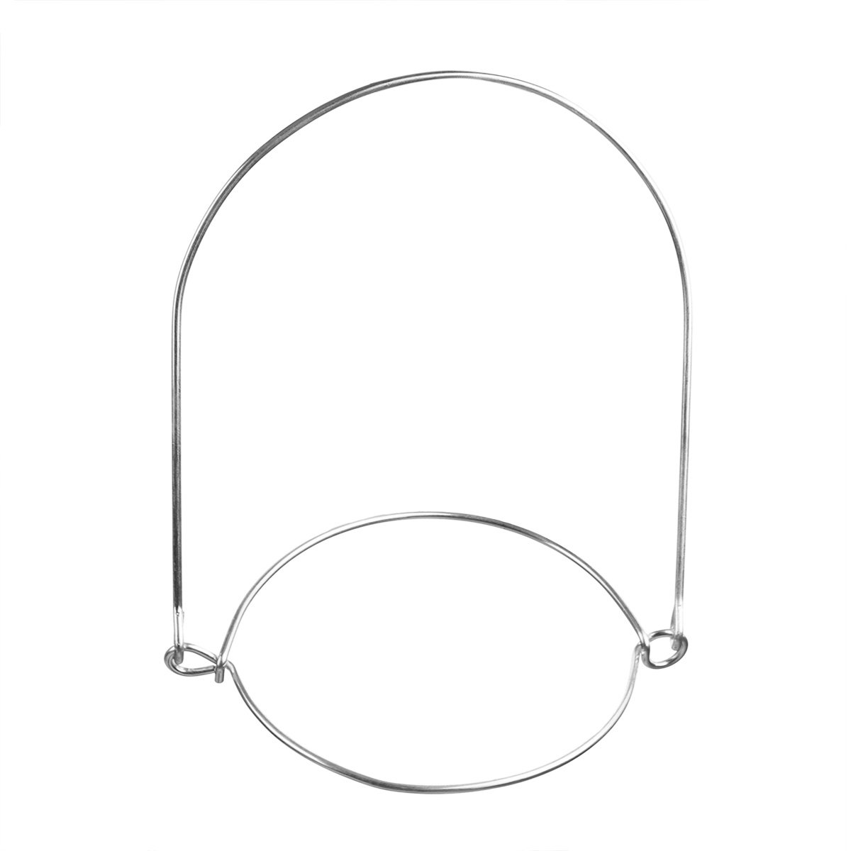 IEFIEL Stainless Steel Wire Handles Jar Hanger for Regular Mouth Mason Ball Canning Night Lamp Solar Light 6 Pack One Size