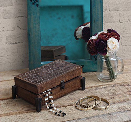 Store Indya Decorative Wooden Jewelry Trinket Holder Keep...