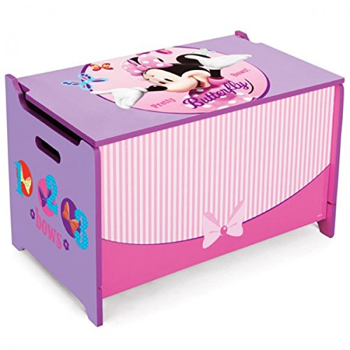 Disney Minnie Mouse Toy Box Caja para juguetes Madera baúl juguete juguete caja baúl nuevo Delta Children's Products
