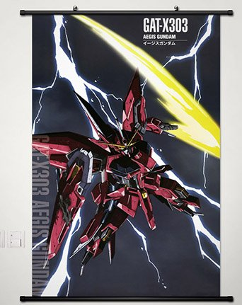 Wall Scroll Poster Fabric Painting For Anime Mobile Suit Gundam 00 Aegis Gundam 033 S