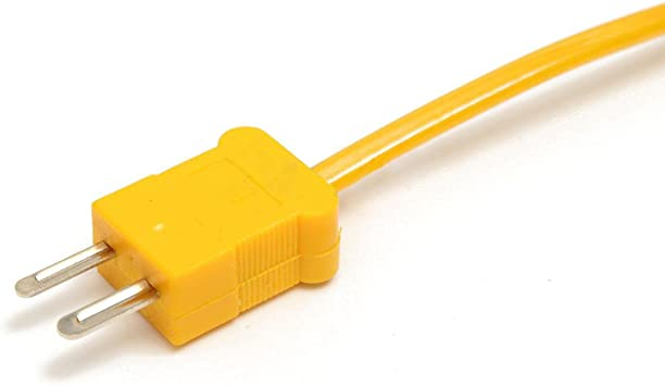 50mm 3m K Typ Thermocouple Temperaturfühler Sensor Probe 1250°C