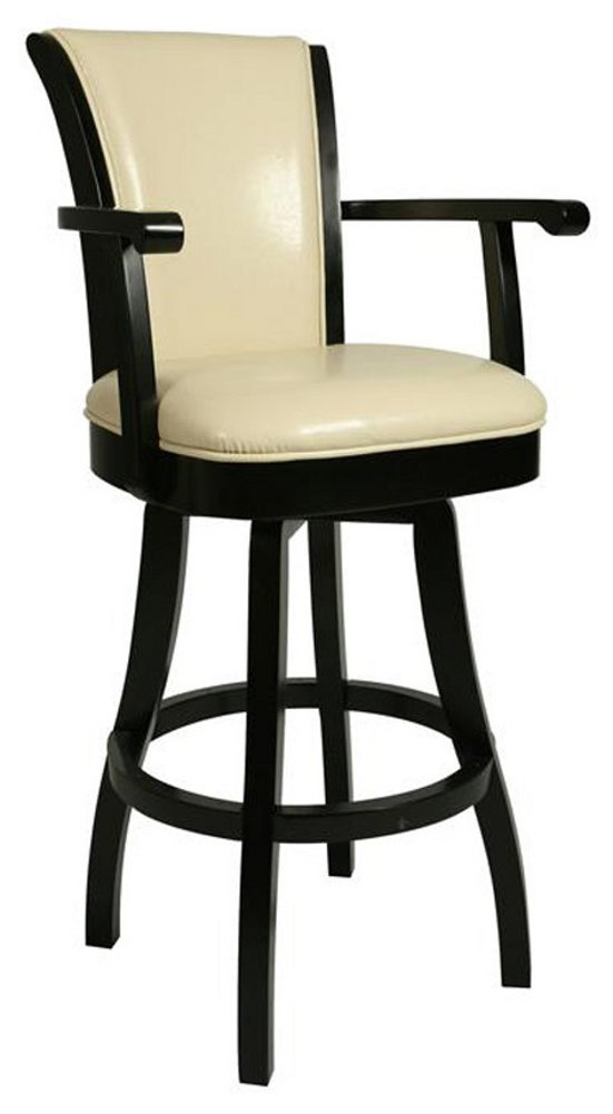 Counter Stools With Arms Part - 23: Amazon.com: Pastel Furniture GL-217-26-RD-867 Glenwood Swivel Barstool With  Arms, 26-Inch, Russet Cordovan And Brown Leather: Kitchen U0026 Dining