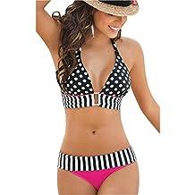Fashion Story Womens Swimwear Bikini Bandeau Push-Up Bra Padded Swimsuit Beachwear