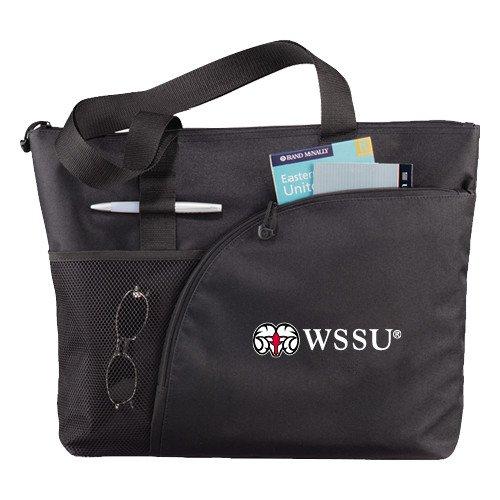 CollegeFanGear Winston Salem Excel Black Sport Utility Tote 'Ram WSSU' by CollegeFanGear