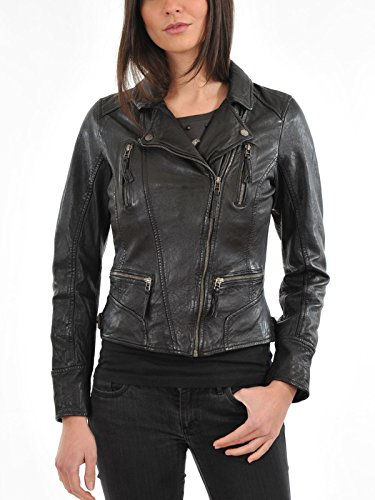 Womens Vintage Motorcycle Jacket - 6