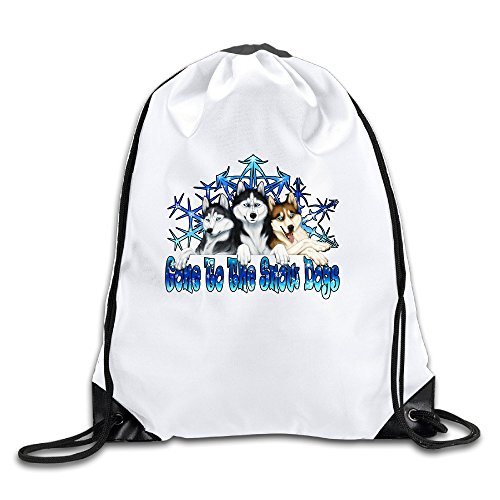 Personized Gone To The Snow Dogs White Geek Beam Port Backpack Schoolbpack Drawstring Backpack ()