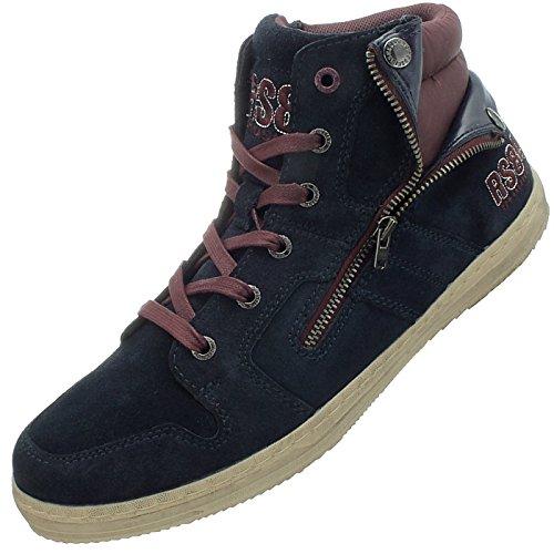 Redskins Blau Sneaker High Herren Freizeitschuhe Blau Top Minska Sneakers DD391GI 1SW4rF1