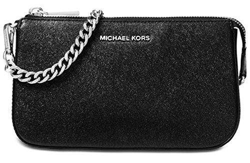 Michael Kors Womens Chain Convertible Clutch Handbag Black ()