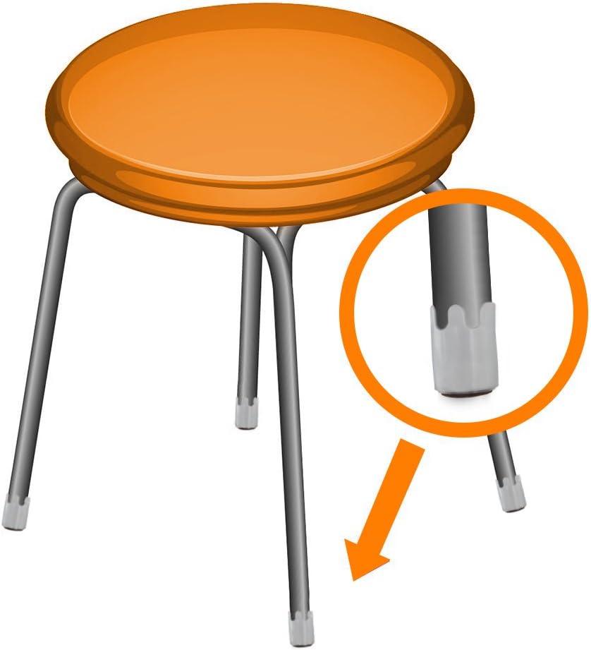 12 Piece polsterfuß Furniture Feet Glides Black Plastic Round Ø 45 x 16 mm High