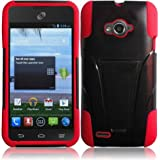 For ZTE Savvy Z750C Cover Case (T-Stand Hybrid  Black / Red)