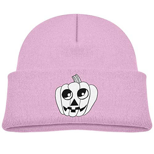 Kids Knitted Beanies Hat Cute Bat Halloween Drawings Winter Hat Knitted Skull Cap for Boys Girls Pink ()