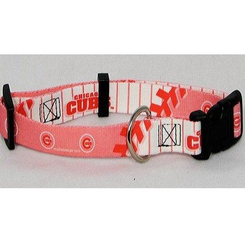 Chicago Cubs Pink Medium Pet Dog Collar (Medium), My Pet Supplies