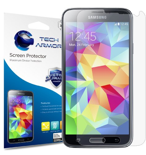 (Tech Armor Samsung Galaxy S5 Anti-Glare/Anti-Fingerprint (Matte) Screen Protectors [3-Pack])