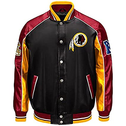 65604d08b Washington Redskins Faux leather jacket NFL Ravens pleather coat asst sizes  (M)