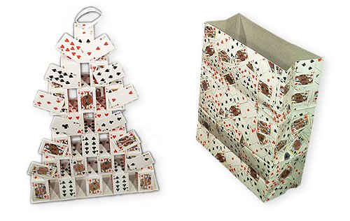 Loftus International An Easily Performed Show Stopper 3 Appearing Card Castles From A Paper Bag