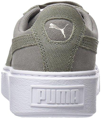 Puma Suede Platform Pebble Wns, Scarpe da Ginnastica Basse Donna Grigio (Rock Ridge-puma White)