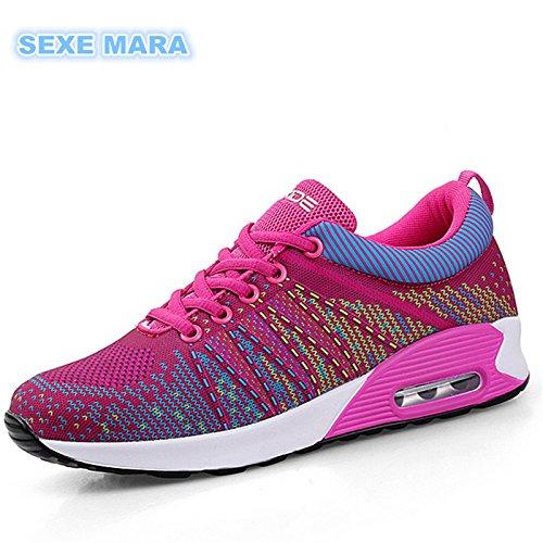 zapatos aire K157 mujer mujer Trotar B Caminar zapatillas exterior mujer Flywire de cojín zapatillas con Zapatillas transpirable de xgYaqv1v